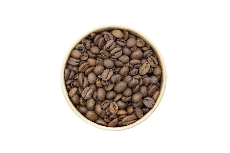 Coffee beans on a white background place for text background. Coffee beans on a white background place for text stock photos