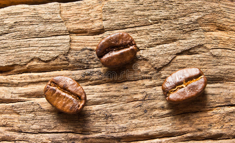 Download Coffee Beans On Wood Background Stock Image - Image: 33201385
