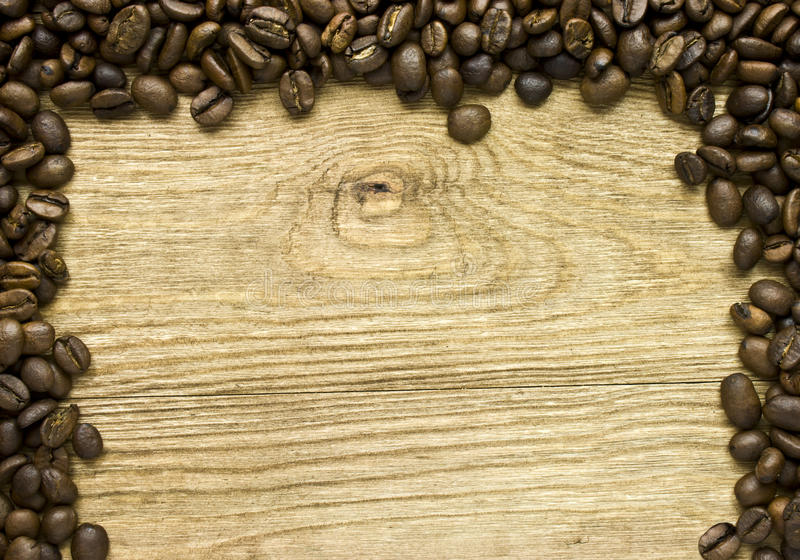 Download Coffee Beans on Wood Frame stock image. Image of board - 26693909