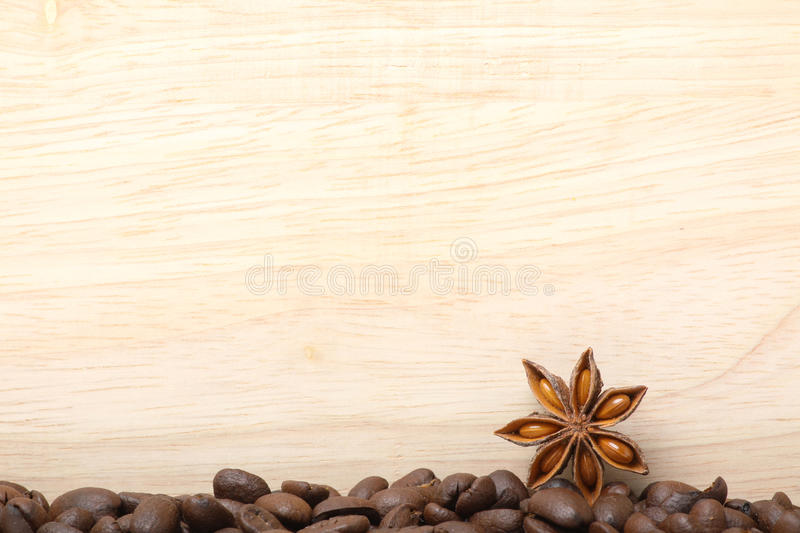 Download Coffee Beans On Wooden Surface Stock Photo - Image: 31464568