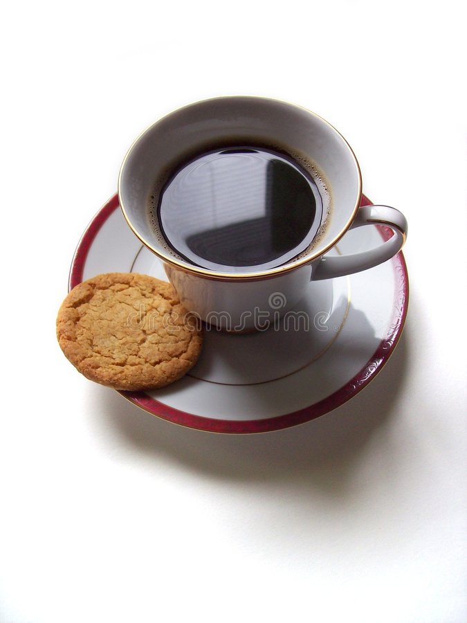 Coffee and Biscuit royalty free stock image