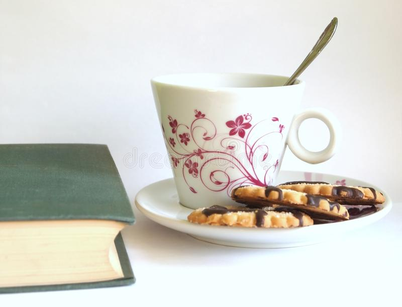 Coffee and book royalty free stock photo