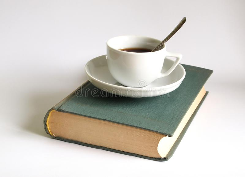 Coffee and a book stock images