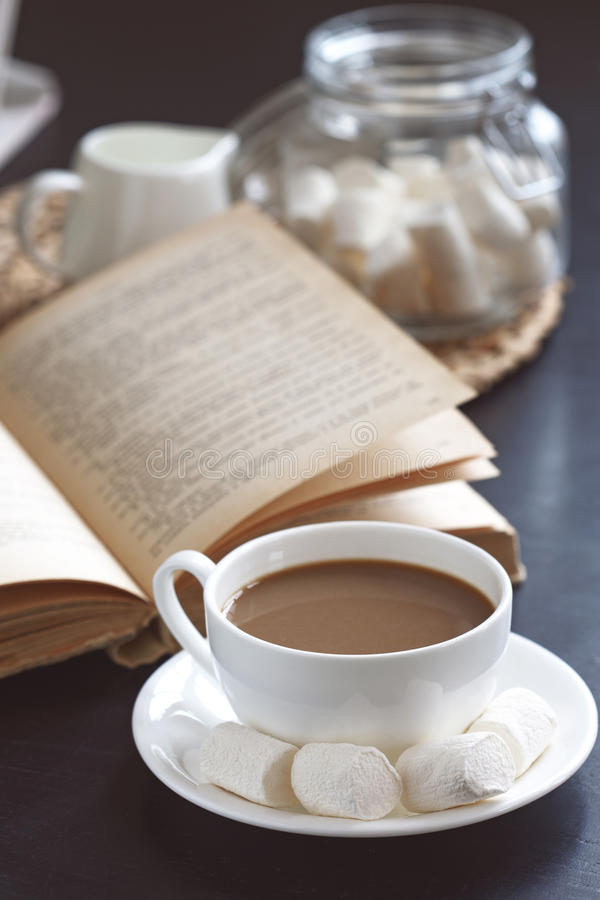 Download Coffee and book stock photo. Image of mocha, latte, living - 36669998