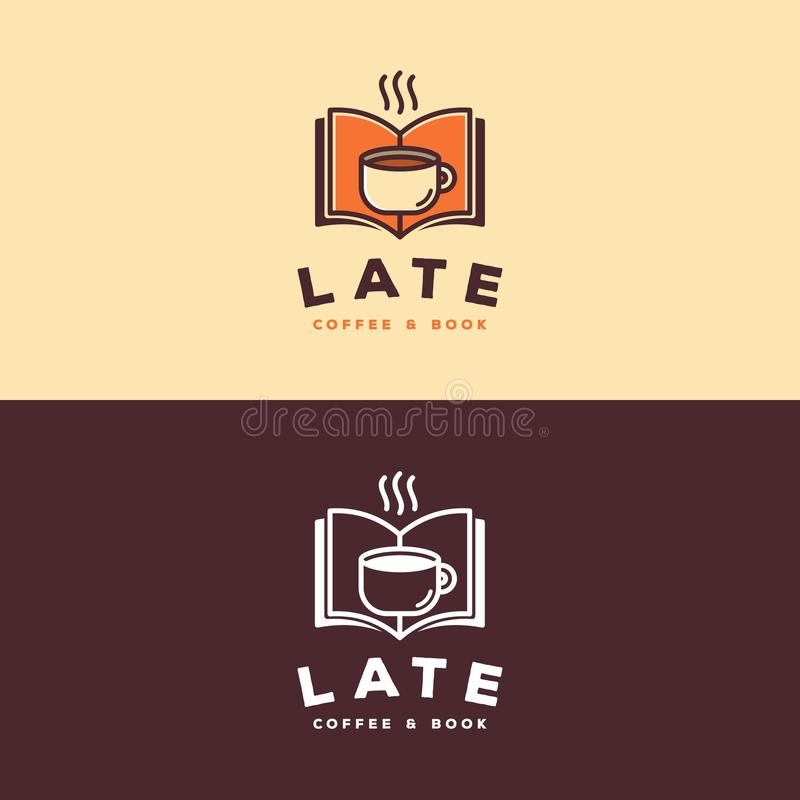 Coffee & Book Logo royalty free illustration