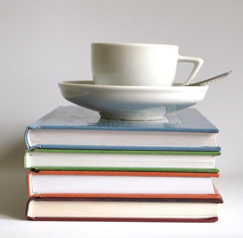 Coffee and a books royalty free stock image