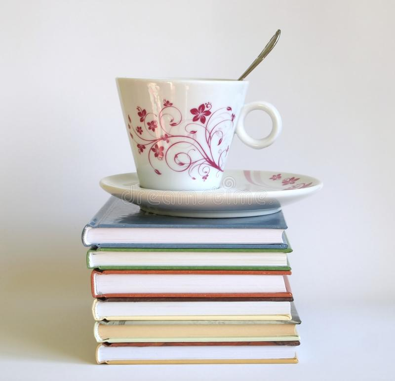 Coffee and a books royalty free stock images