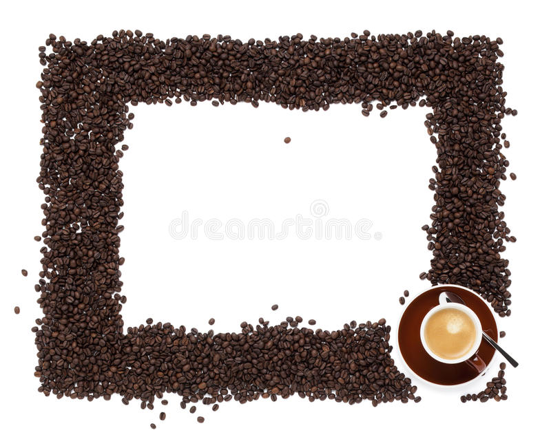 Coffee border royalty free stock photography