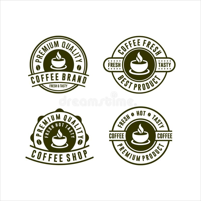 Coffee Brand Fresh Shop Collection fresh and tasty vector illustration