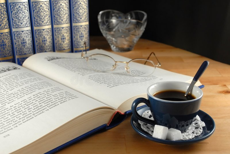 Download Coffee break stock image. Image of pause, study, reading - 2306673