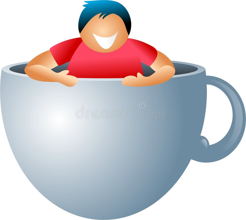 Coffee break royalty free illustration