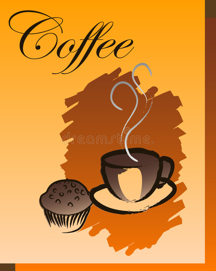 Download Coffee break stock vector. Illustration of cake, coffee - 7955057