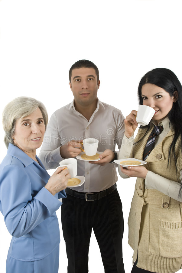 Download Coffee break stock photo. Image of businesspeople, cheerful - 7972632
