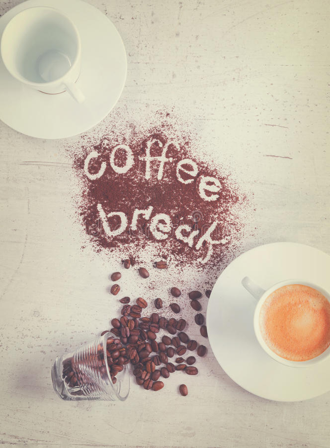 Coffee break concept royalty free stock photography