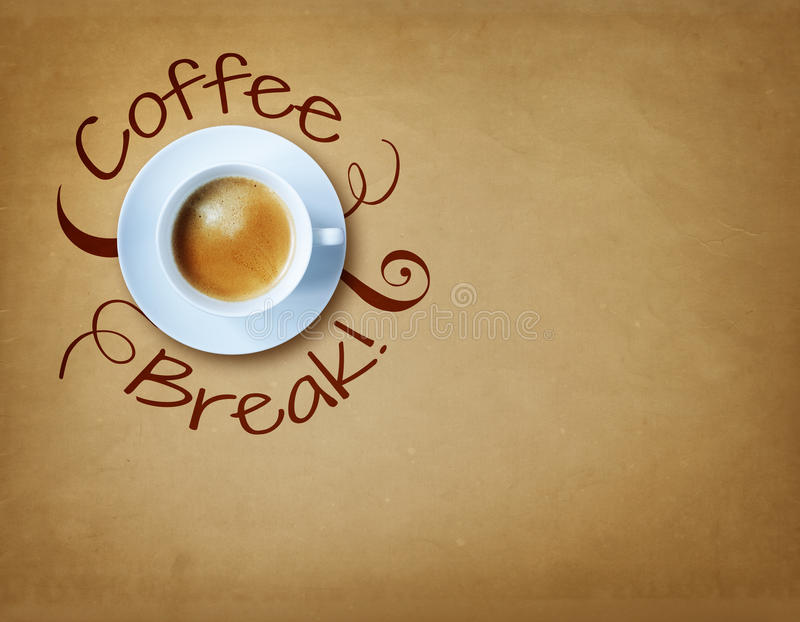 Coffee break royalty free stock photos