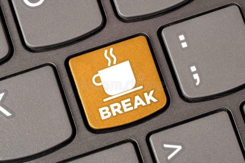 Coffee break keyboard royalty free stock images