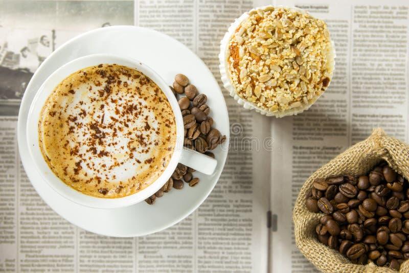 Download Coffee break stock photo. Image of dessert, jute, food - 39506784