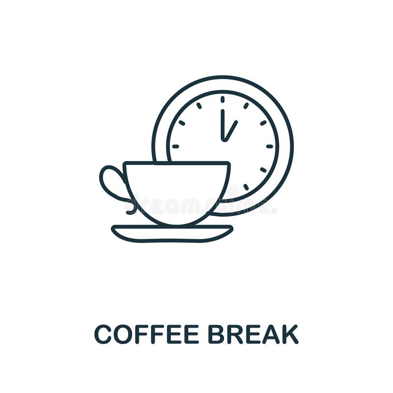 Coffee Break icon. Line style symbol from productivity icon collection. Coffee Break creative element for logo. Infographic, ux and ui vector illustration
