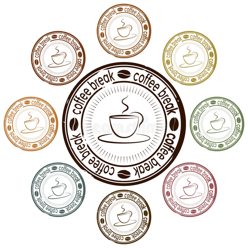 Coffee break set of stamps
