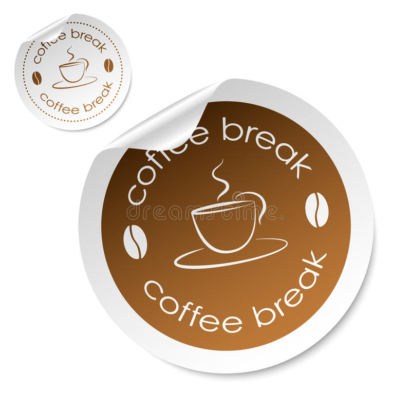 Download Coffee break stick stock vector. Image of label, green - 27555252