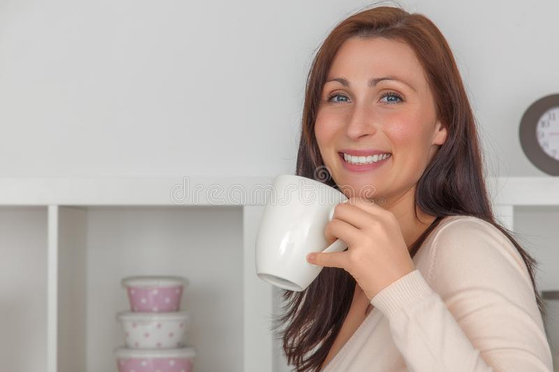 Coffee break woman royalty free stock images