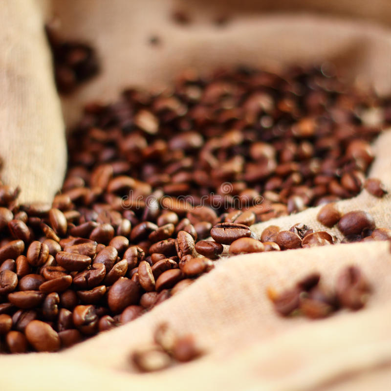 Download Coffee On Burlap Background Stock Photo - Image: 29918636