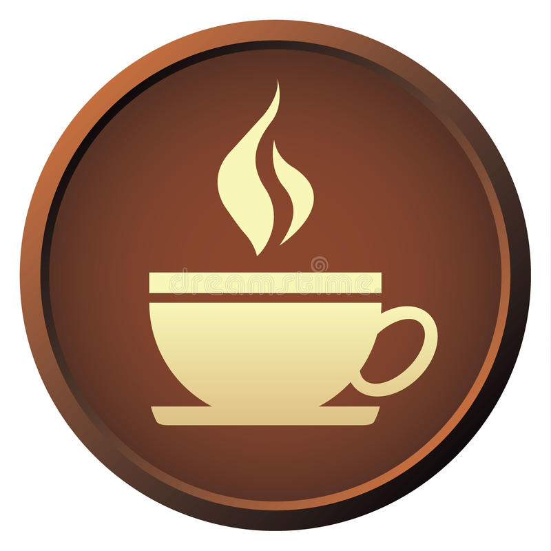 Download Coffee Button Stock Vector - Image: 39871911