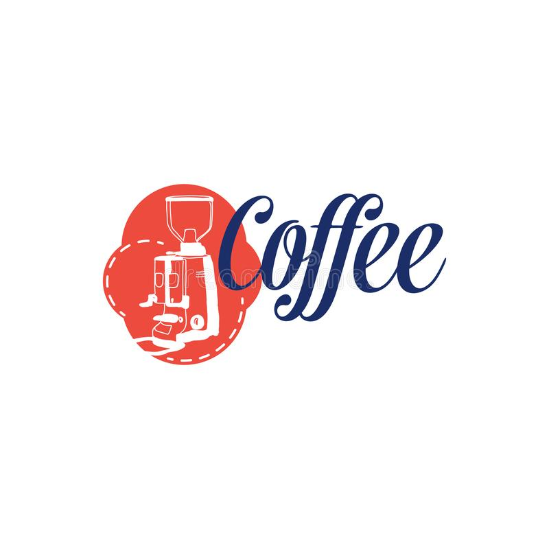 Coffee cafe logo templates with vintage concept 库存例证