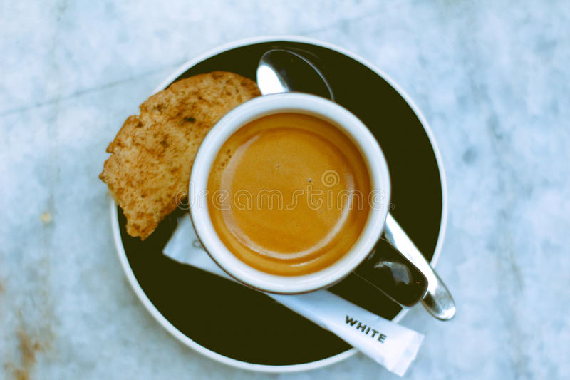 Coffee cafelux bagatelle espresso royalty free stock photos