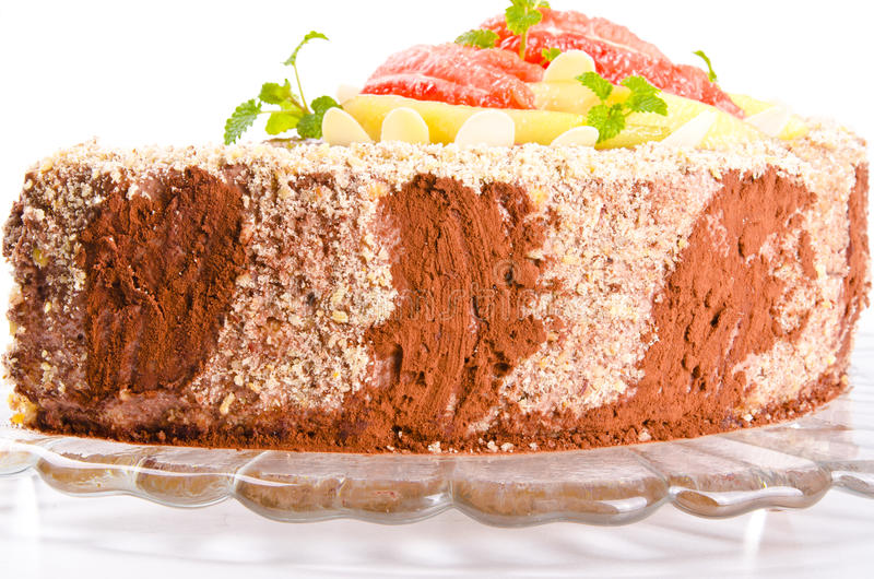 Download A Coffee Cake With Pear And Grapefruit Stock Photo - Image: 23637786