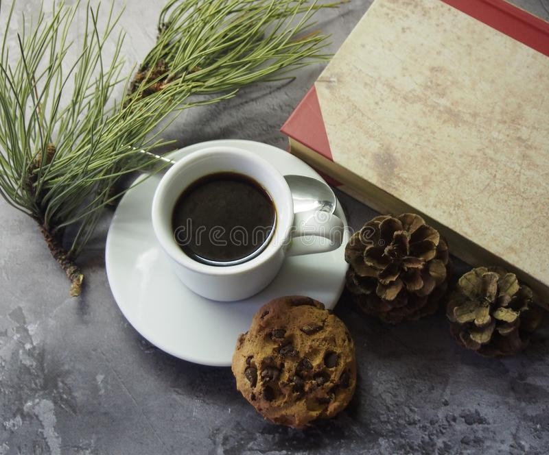Coffee and cakes stock image