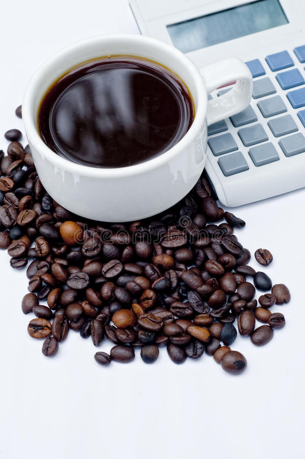 Download Coffee and Calculator stock photo. Image of mouse, table - 23131436