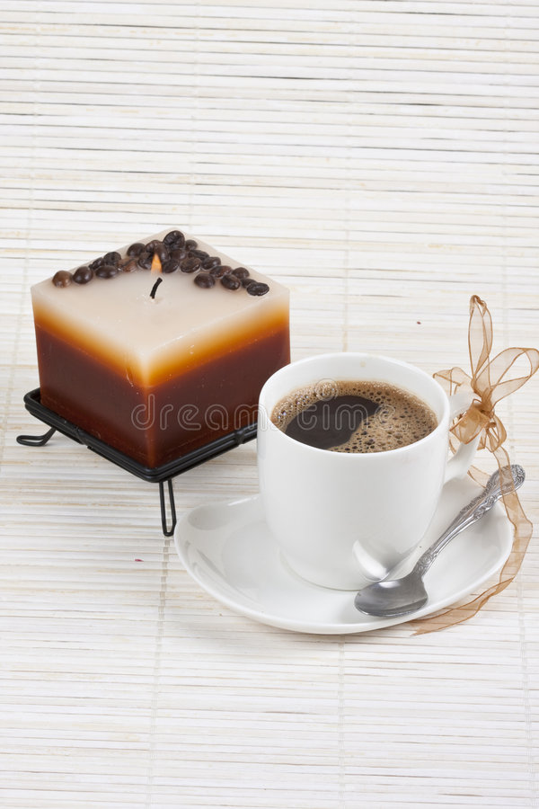 Download Coffee and candle stock image. Image of roast, coffe, coffee - 8198225
