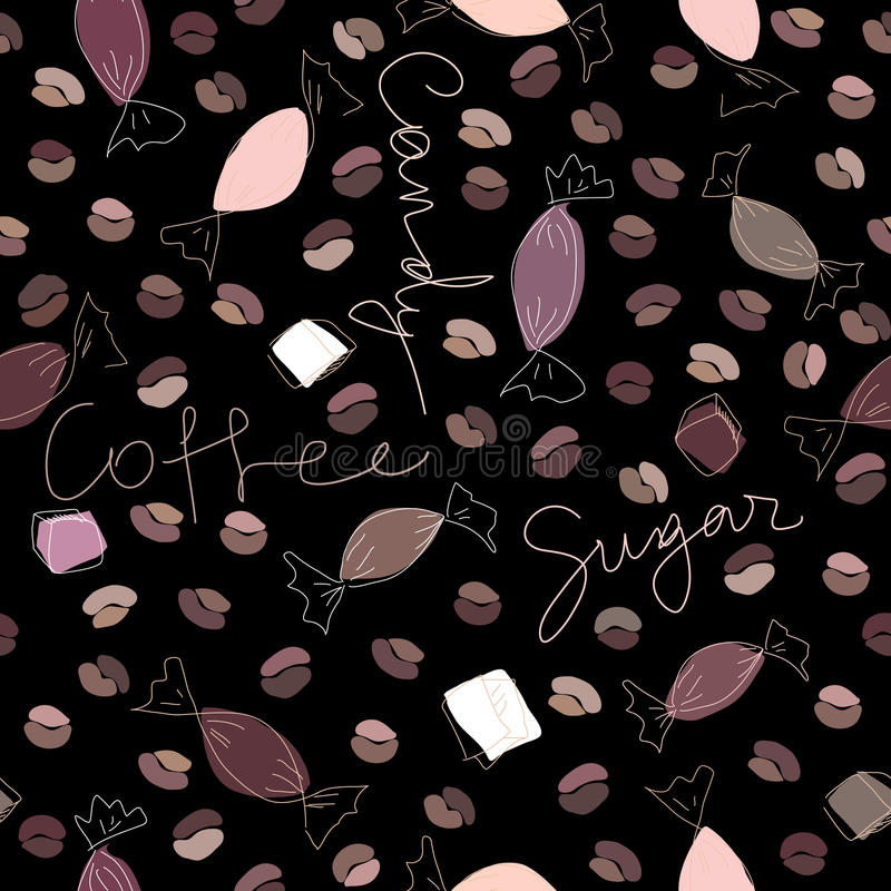 Download Coffee and candy stock vector. Illustration of line, repeating - 22036222