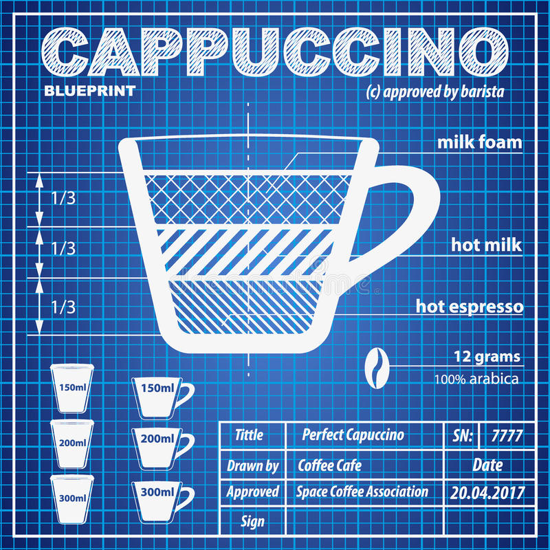 Coffee cappuccino composition and making scheme stock vector download coffee cappuccino composition and making scheme stock vector illustration of drink design malvernweather Image collections