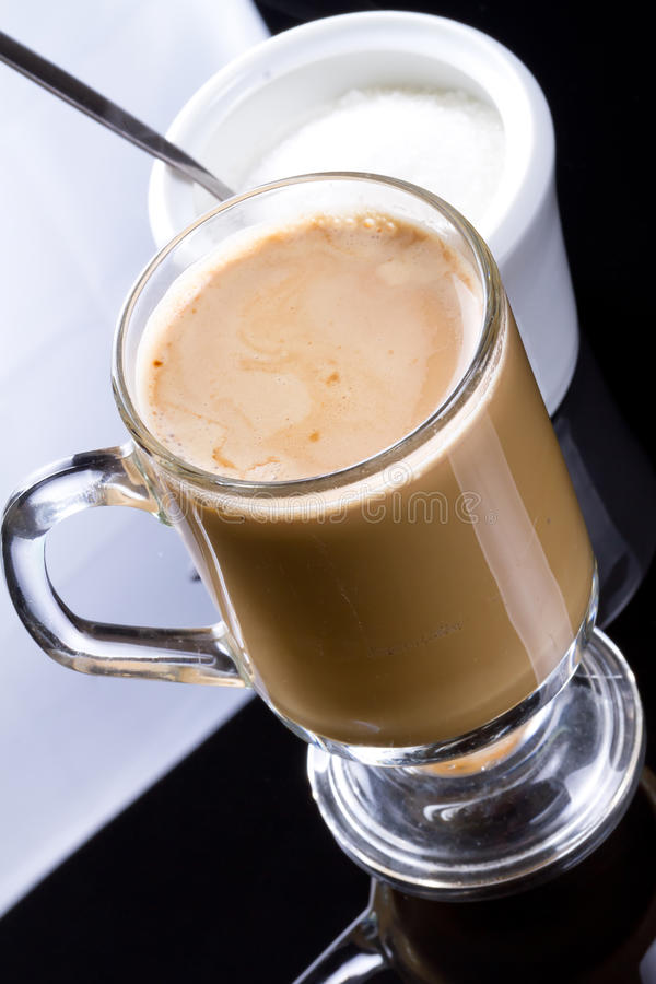 Download Coffee Cappuccino In Glassy Mug Stock Photo - Image: 25046722