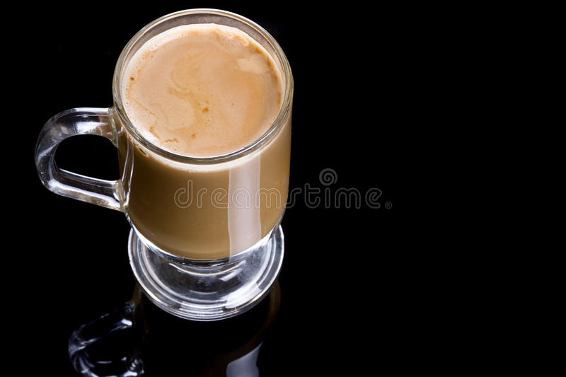 Download Coffee Cappuccino In Glassy Mug Stock Photo - Image: 25046728