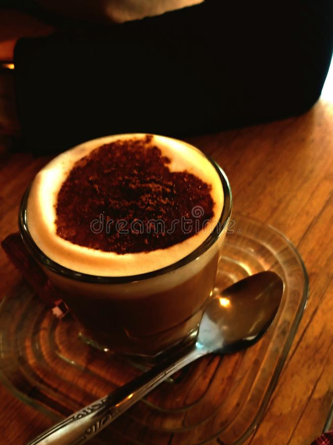 Coffee. Cappucino, drinking, hotdrink, milkbased stock photo