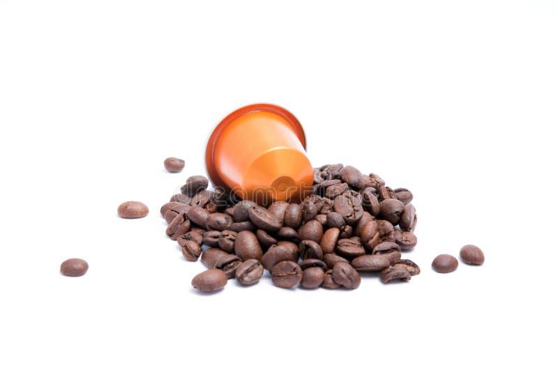 Coffee capsule royalty free stock photo