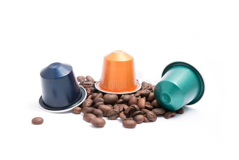 Coffee capsules stock image