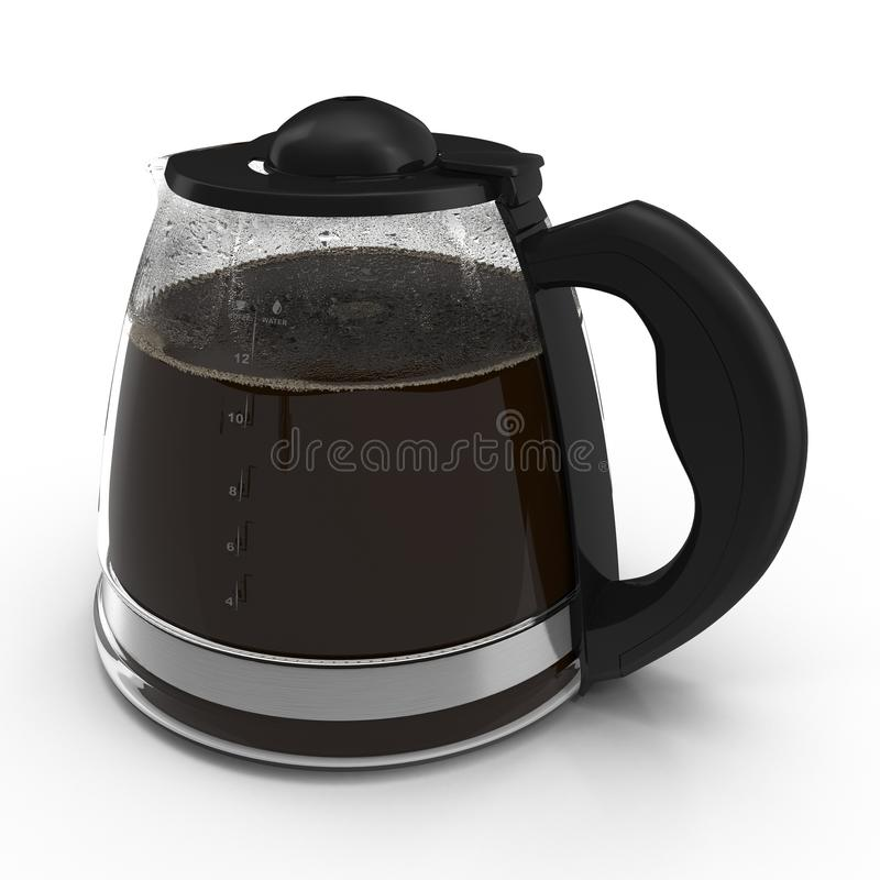 Coffee Carafe on white. Side view. 3D illustration. Coffee Carafe on white background. Side view. 3D illustration vector illustration
