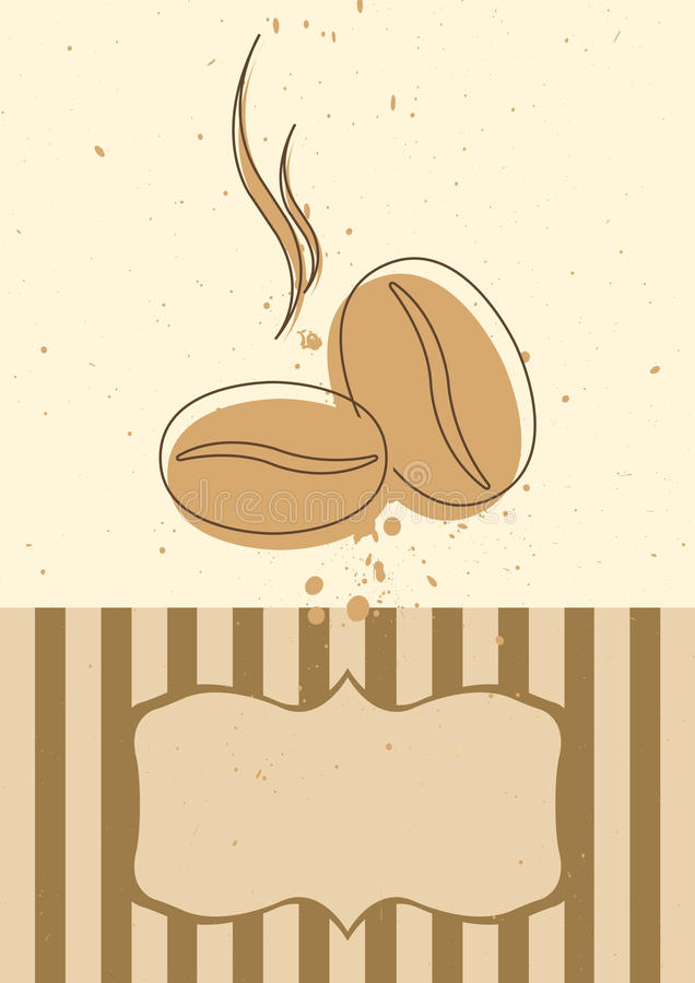 Coffee card invitation or menu stock photo