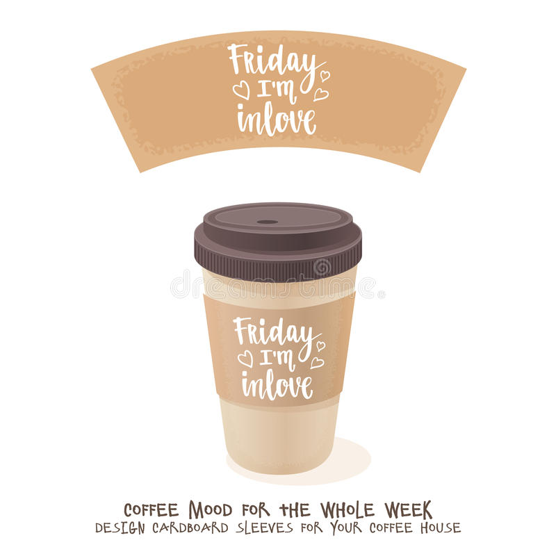 coffee cardboard sleeve week days motivation quotes friday