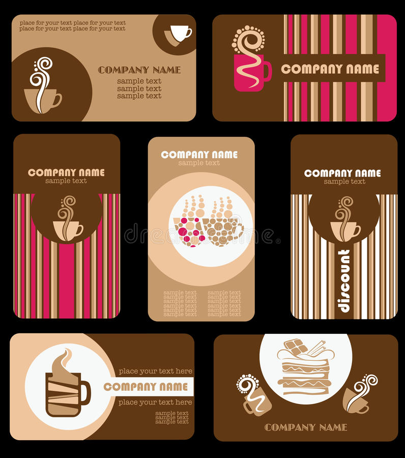 Download Coffee cards stock vector. Image of cartoon, delicious - 22174444