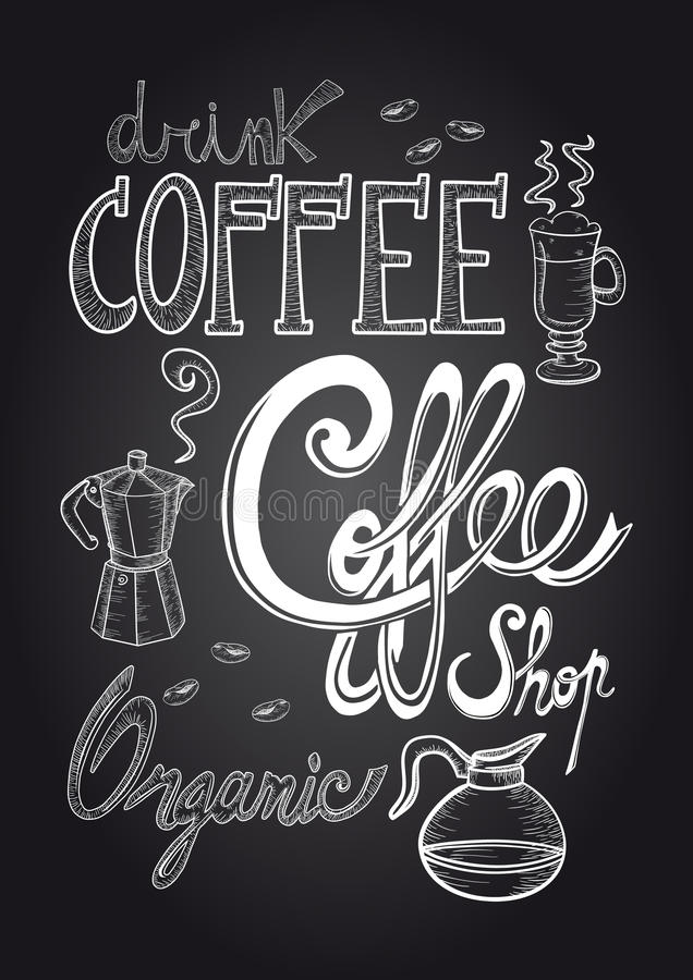 Coffee chalkboard illustration vector illustration