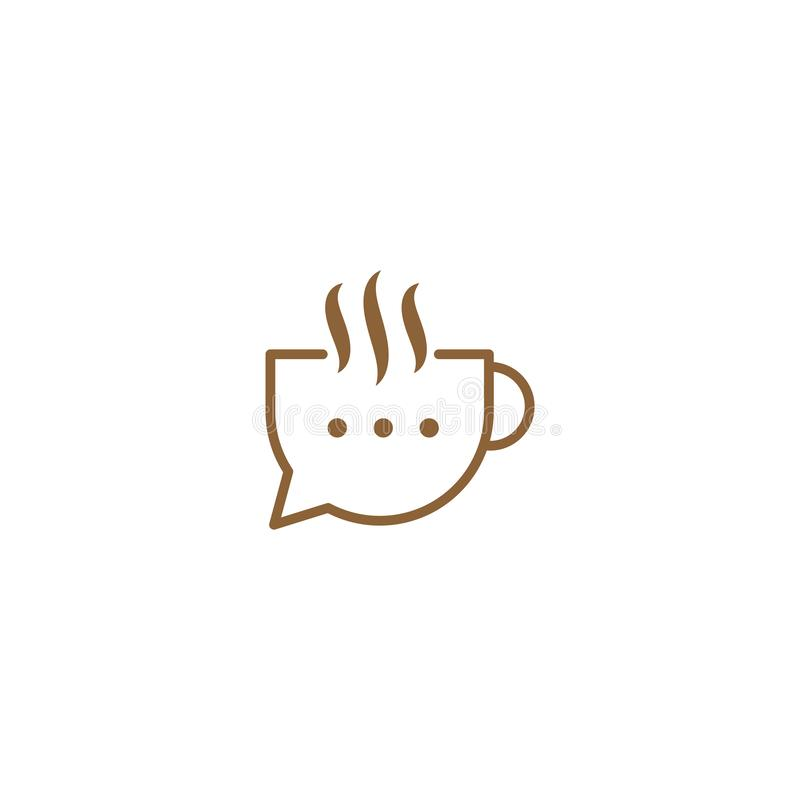 Coffee Chat graphic design template simple illustration stock illustration