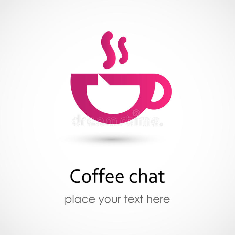 Coffee chat royalty free illustration