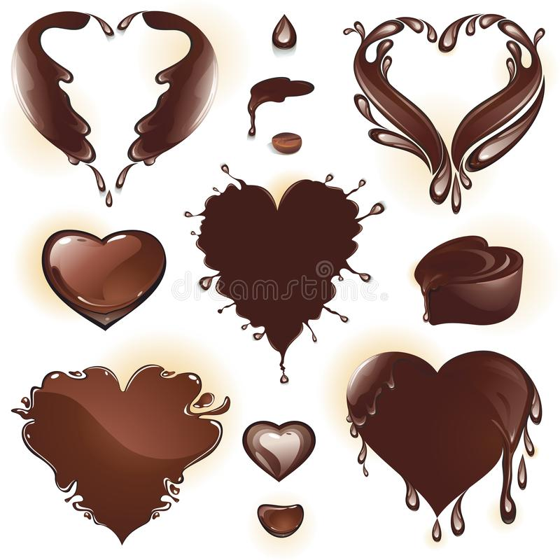 Coffee and chocolate royalty free illustration