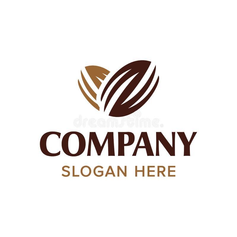 Coffee chocolate heart bean logo vector inspiration royalty free stock image