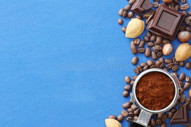 Coffee and chocolate royalty free stock images